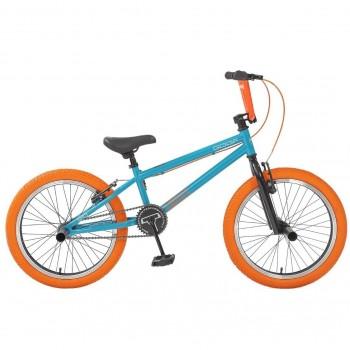 Велосипед 20 BMX Tech Team GOOF бирюзово-оранжевый