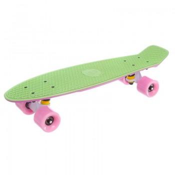 "Пенни борд Fish Skateboards Green/Pink 22.5"" - Салатовый/Розовый"