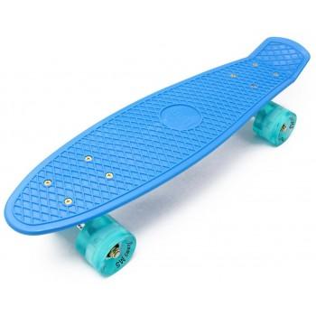 "Пенни борд Zippy Board 22"" LED - PRO синий"